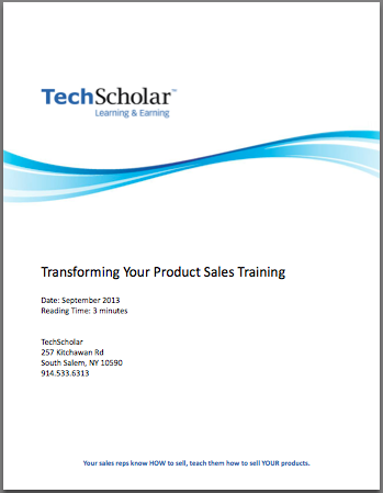 Transforming Your Product Sales Training